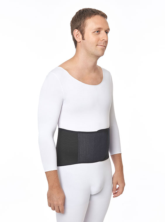 "Lightweight Abdominal Elastic Support Narrow Front 8"" White or Denim Navy Colours (front)"