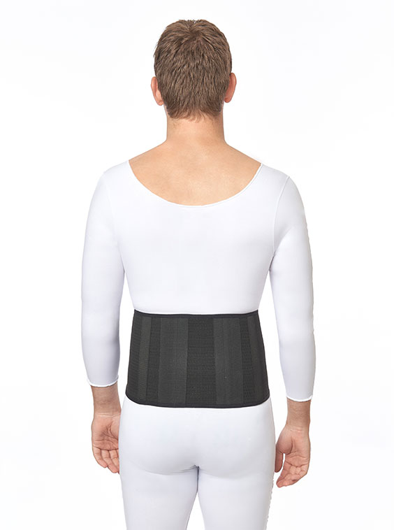 """Lightweight Abdominal Elastic Support Narrow Front 8"""" White or Denim NavyColours (back)"""