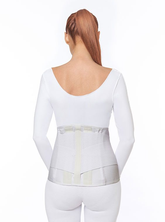 Ventilated Elastic Lumbosacral Support White Female (back)