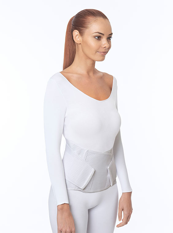 Ventilated Elastic Lumbosacral Support White Female (front)