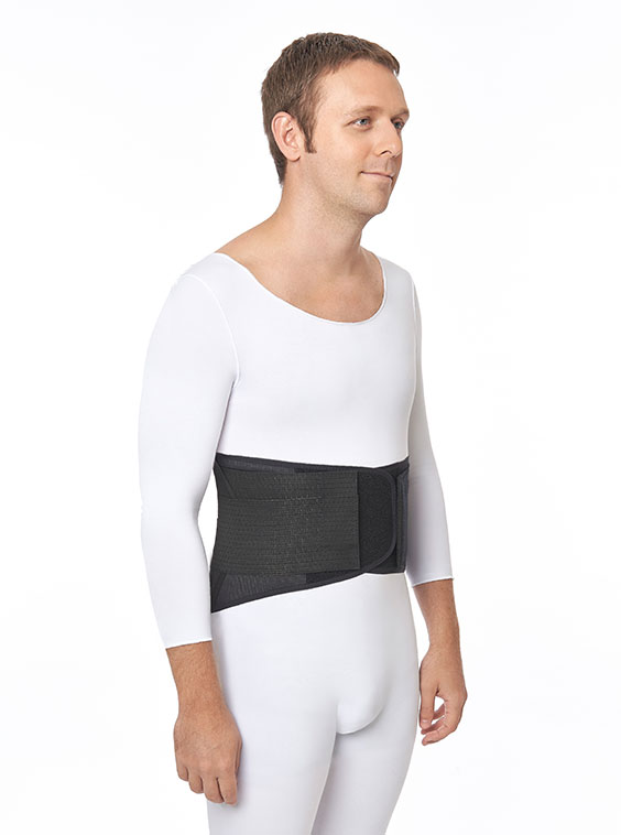 Lightweight Elastic Lumbosacral Support Black (front)