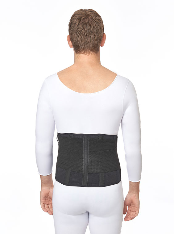 Lightweight Elastic Lumbosacral Support Black (back)